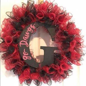 Georgia Dawgs deco Mesh Wreath